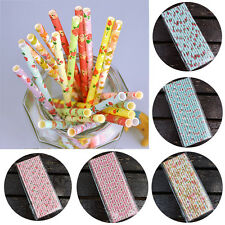 25X Paper Drinking Straws Flower Colorful Floral Birthday Wedding Party Home