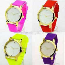 Womens Girls Watches Quartz Jelly Silicone Analog Sports New Ladies Wrist Watch