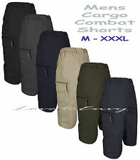Mens 3/4 Cargo Combat Beach Summer Holiday Multi Pocket Work Shorts Size M-XXXL.