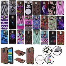 IMAGE DOUBLE LAYERED ARMOR HYBRID CASE for SAMSUNG GALAXY MEGA 2 + ACCESSORY SET
