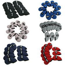 10x Golf Club Iron Covers Headcovers Neoprene Protector For Callaway Taylormade