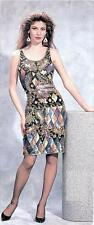 Jasdee Vintage Beaded & Sequins Dress Hand Work Black/Multi On Silk Style 3002