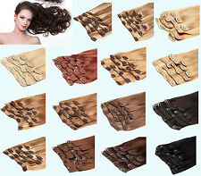 Double Drawn Thick Clip In European Remy Human Hair Extensions 100g 110g 160gram