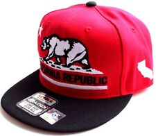 Flat Bill California Cali Republic Bear Snapback Caps Cap Hats Hat Assorted SALE