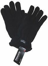Black Structure Wool Driving Gloves 3M Thinsulate Lined Mens M L XL Winter Snow
