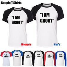 Marvel Guardians Of The Galaxy I'm GROOT Pattern Boy's Girl's Couple T Shirt tee