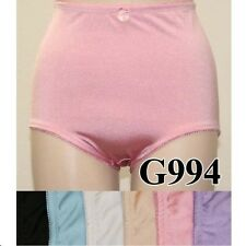WOMEN'S SATIN LIGHT CONTROL PANTY BRIEF(SEE MEASUREMENTS)COLORS,Large & XL, NWT!