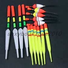 Outdoor Sporting 15 Pcs Vertical Buoy Fishing Bobber Plastic Float Tackle Set
