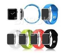 Silicone Fitness Replacement Band Wrist Strap For Apple i Watch 38mm 42mm