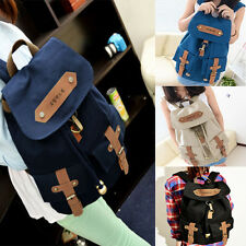 Women's Cute Vintage Canvas Satchel Backpack Rucksack Travel Shoulder School Bag