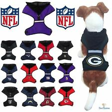 NFL Fan Gear Dog Harness with Hood for Pets Dogs Puppy - PICK YOUR TEAM