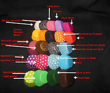 CUPCAKE LINER BAKING CUP PAPER MUFFIN PATTY CASES RED BLACK BLUE PINK PURPLE