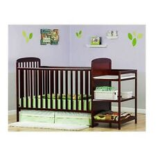 Full Size Crib 2 In 1 Changing Table Bed Child Grows Baby Nursery Toddler Daybed