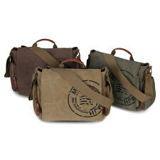 Veevan Mens Canvas Messenger Bag Classic Top Handle Satchel Uni Shoulder Bags