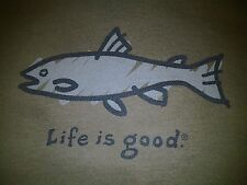NWT Life is Good Mens T Shirt FISH Fishing Boating Boat Good Catch S M L XL 2XL