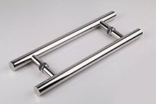 Polished Chrome / Long Door Pull Handle /  Stainless Steel / Wood & Glass Doors