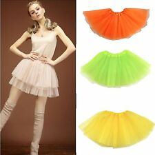 Adults Teens Girl Tutu Ballet Skirt 3 Layer Tulle Costume Fairy Party Hens Night