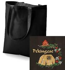 Pekingese Tote Bag  Embroidered by Dogmania