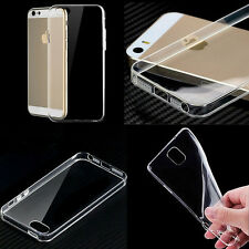 Ultra Thin Slim Crystal Clear Soft Rubber TPU Skin Case Cover For iPhone Samsung