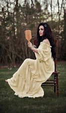 Renaissance Medieval Costume Classic Chemise Ruffled Tiered Peasant Sleeve