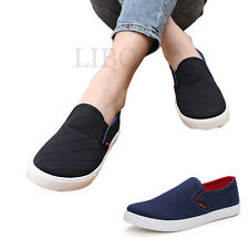 SCARPE MOCASSINI SNEAKERS SLIP ON UOMO BLU NERO shoes men