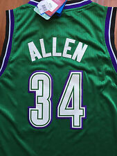 NBA Milwaukee Bucks Ray Allen Throwback Adidas Jersey Sewn/Stitched NWT