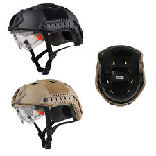Military Tactical Gear Airsoft Paintball SWAT Protective FAST Helmet & Goggles