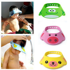 Adjustable Soft Baby Kid Safe Shampoo Bath Shower Cap Hat Wash Hair Eye Shield T