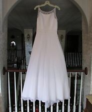 DAVID'S BRIDAL St. Tropez WEDDING GOWN / DRESS WHITE Size 12