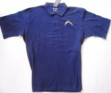 NFL SAN DIEGO CHARGERS Navy Polo Shirt  Embroidered Bolt Off Lic. NWT     XL