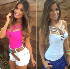 Sexy Women's Summer Vest Top Sleeveless Blouse Casual Tank Tops T Shirt Size S-L