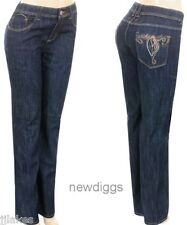 New Jeans Straight Leg Embroidered w Rhinestones Size16 or 20