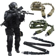 Good Outdoor Tactical Single Point Sling Adjustable Bungee Rifle Gun Sling