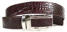 Belly Genuine Real Crocodile Alligator Leather Men's Belt Brown Size 32-45 New