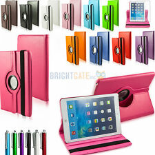 PU LEATHER 360 SWIVEL ROTATING MAGNETIC SMART COVER CASE FOR  IPAD AIR 5 + Gifts