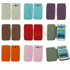 3FOLD STAND Honeycomb Leather FLIP Smart Case Cover For Samsung Galaxy S3 III