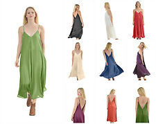 WOMEN'S MIDI LONG SUMMER BOHO GYPSY HIPPIE TENT V-NECK MAXI DRESS DRESSES LOOSE