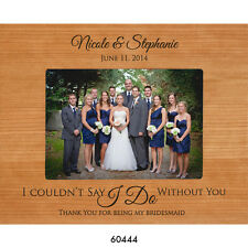 Personalized 4x6 Bridesmaid Wedding Gift Picture Photo Frame Engraved