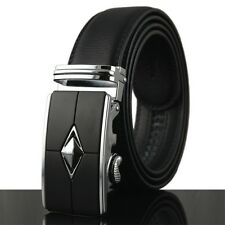 Luxury Casual Fashion Automatic Buckle Mens Waistband Real Genuine Leather Belts
