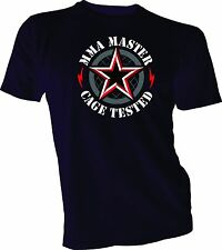 New Men's Black Tee T Shirt MMA UFC Shiny Wings Club Cross Cool Shirt Retro Look