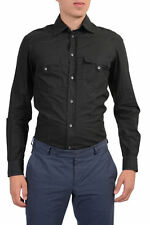 Just Cavalli Men's Black Long Sleeve Casual Shirt SZ S M