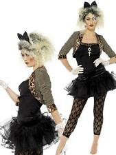 Ladies 1980s 80s Wild Child Madonna Punk Pop Icon Fancy Dress Costume Outfit