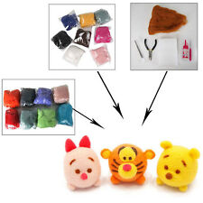 DIY Wool Fiber Needle Felting Felt + Felting Needles Starter Kits Mat Tools