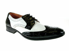 New Ferro Aldo Mens Wing Tip Spectator Lace up Dress Shoes 2-tone oxfords 109185