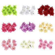 25Pcs Roses Artificial Silk Flower Heads Wholesale Lots Wedding Art decor