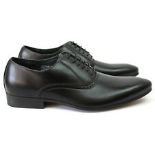 New Men's Black Ferro Aldo Pointed Toe Leather Lining Dress Shoes Modern Lace Up