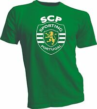 Sporting Clube de Portugal Football Soccer T Shirt UEFA Europe New