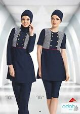 Chelly Hashur Modest Swimsuit, Lycra, Long/Short Sleeves available in Navy Blue