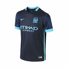 Nike Manchester City Season 2015-2016 Away Soccer Jersey Brand New Navy Blue
