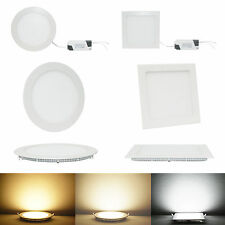 Bombilla de techo 9W 12W 15W 18W 21W brillante CREE LED empotrable Panel Light #